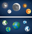 Set of globe and moon icon vector