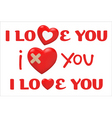 Valentines day type text vector