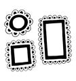 Set of hand drawn doodle frames vector