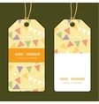 Party decorations bunting vertical stripe frame vector