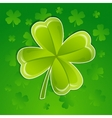Greeting card with leaf of clover vector