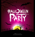 Halloween party at night background vector