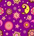 Sun and moon seamless pattern vector