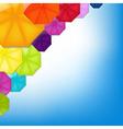 Color umbrellas vector