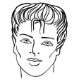 Hand-drawn fashion model man face vector