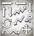 3d doodle arrows vector