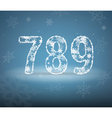 Numbers made from snowflakes vector