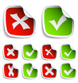 Check mark stickers collection vector