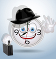 Watch smile ready for a new working day vector