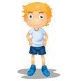 Cartoon young boy vector