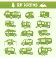 Recreational vehicle set vector