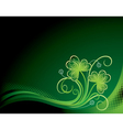 Patrick floral background with shamrock vector