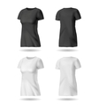 Black and white t shirt vector