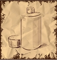 Spray can icon isolated on vintage background vector