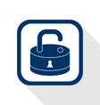 Open lock flat icon vector