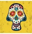 Sugar skull on grunge background vector