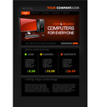 Computer shop web page templat vector