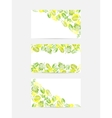 Green leaves greeting cards vector