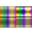 Set abstract spectrum dark background colored vector