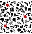 War seamless pattern vector