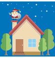 Santa house vector