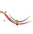 Colorful spring lines conceptual nature design vector