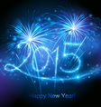 New year 2015 fireworks vector