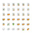 Files and folders flat design icon set file type vector