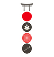 Japan icon set vector