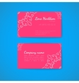 Pink business card template with decorative vector