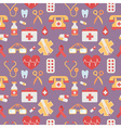 Medical seamless pattern in trendy flat style vector