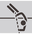 Pole vault icon vector