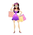 Shopping girl vector