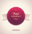Old-fashioned label for valentines day vector