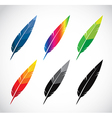 Group of feather vector