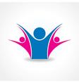 Celebrate or unity icon concept vector