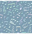 Seamless music pattern vector