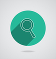 Search icon magnifying glass with long shadow vector