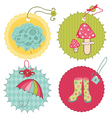 Autumn cute tags - for scrapbook design invitation vector