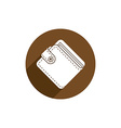 Wallet icon isolated vector