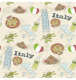 Italy travel grunge seamless pattern vector