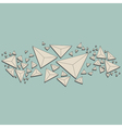 Abstract polygon background white paper triangle vector