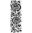Black-and-white flowers and leaves floral design e vector