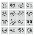 Black cartoon eyes set vector