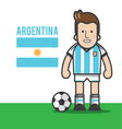 Argentina-soccer-player vector