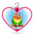 Valentine love bird vector