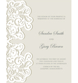 Wedding invitation floral card vector