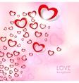 Flying heart love background vector