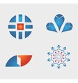 Business logos icons set vector