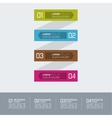 Multicolored paper stickers with numbers and signs vector